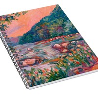 Spring On The New River Spiral Notebook for Sale by Kendall Kessler