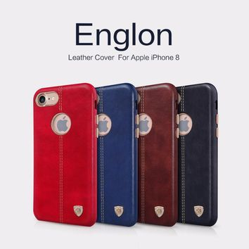For iphone 8 iphone 8 plus Case cover Original NILLKIN Englon Series PU Leather Cover Case For iphone8 8 plus Phone Back Shell