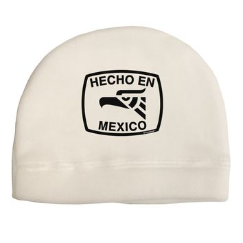 Hecho en Mexico Eagle Symbol with Text Adult Fleece Beanie Cap Hat by TooLoud
