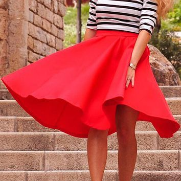 Summer long skirts for women 2017 Korean Style Bohemian Skirts high waist pleated Stretch Skirts Faldas largas Saia feminina