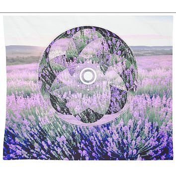 Purple Lavender Mandala Tapestry Wall Hanging Meditation Yoga Grunge Hippie
