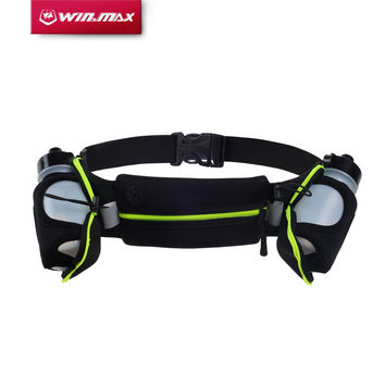 WINMAX New Running Belts Exercise Climbing Camping Cycling Runner Bag Waist Packs with 2 Free Water Bottles for Men & Women