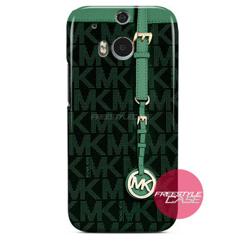 Michael Kors MK Bag Dark Green HTC One Case M8 M7 One X Cover
