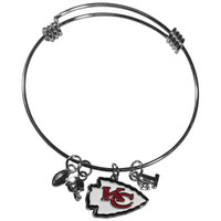 Kansas City Chiefs Charm Bangle Bracelet FCBB045