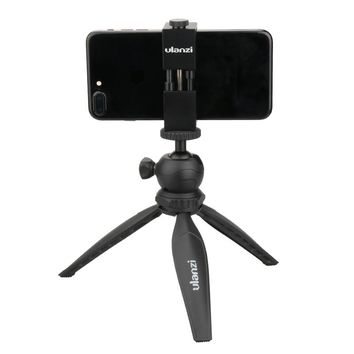 Ulanzi Metal Smartphone Mount + Ulanzi Tripod- Aluminum Metal Universal Phone Holder Mount Plus for iPhone6/ 7 7 Plus Smartphone