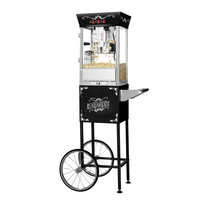 Great Northern Black Antique Style 8 Oz Popcorn Popper Machine w/Cart 8 Ounce