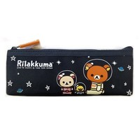 San-x Space Rilakkuma Canvas Pencil Case School Supply Stationary Pouch : Black $3.99