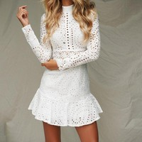 Libertine Long-Sleeve Flounce Dress