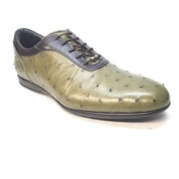 Mauri 9295/2 Brown/Green Ostrich/Nappa Lace-Up