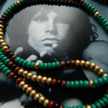 Jim Morrison Necklace-The Doors Lizard King/King Cobra Necklace/Vintage 1967 style/hippie bead necklace/hippie necklace/hippie jewelry
