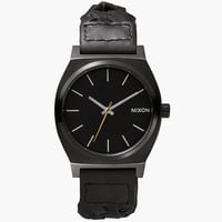 Nixon The Time Teller Watch All Black/Woven One Size For Men 25570310001