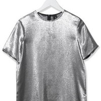 Lamé Tee by Boutique - Silver