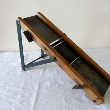 Vintage French Mandoline Vegetable Slicer Wood