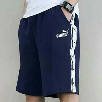 PUMA men's shorts summer new serial label baggy sport running casual five-minute trousers cotton big woollen hoop breathable and comfortable joker pants