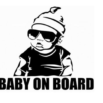 Baby On Board Creative Car Sticker Tail Warning Sign Decal