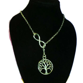 "Tree of Life and Infinity 18"" Lariat"