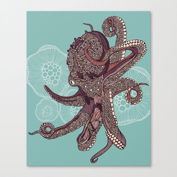 Octopus Bloom Canvas Print by Valentina Harper
