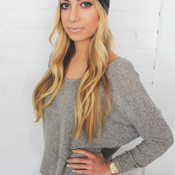 Turban Headband -- Faux Leather