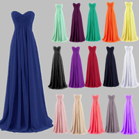 TL453 New Arrival Mint Green Long Chiffon A-Line Sweetheart Pleated Bridesmaid Dress Under 50 Wedding Party Dress 2016 hot Robe