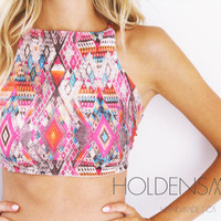 Spandex Halter Top -- Choose Your Print
