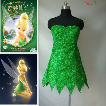 Tinker Bell Deluxe Disney Tinkerbell Adult Green Fairy Pixie Halloween Costume tailor-made