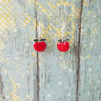 Whimsical Red Apple Earrings, Teacher Gift, Gifts for Her, Etsy Gift Guide