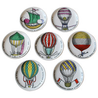 Set of Seven Porcelain Coasters by Piero Fornasetti