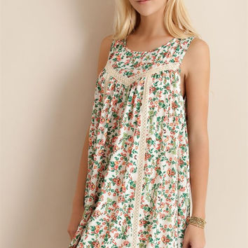Spring Morning Shift Dress - Ivory