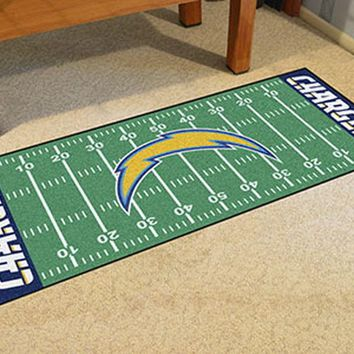 FANMATS San Diego Chargers Field Runner Mat Area Rug, Man Cave, Bar, Game Room