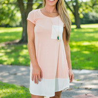 Welcome To The Weekend Dress, Peach