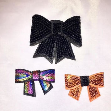 Halloween Bow For Teens, Sqeuins Hair Clips, Gothic Hair Accessories, Halloween Hair Clip, Gift for Her,Stocking Stuffers for Girls, Teens
