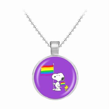 NECKLACE JEWELRY LGBT Women's Rainbow Pendant Gay and Lesbian LGBT Pride