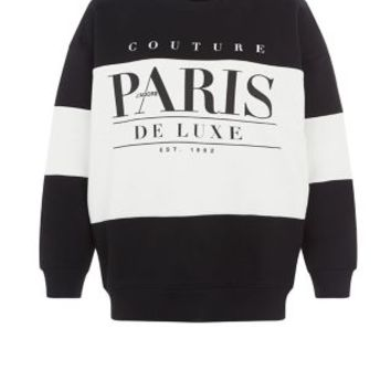 Black Couture Paris Colour Block Sweater