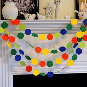 Any occasion garlands - Wedding Garland 10 ft Primary Colors circle - Wedding Decor- Reception Decor-Shower Decor