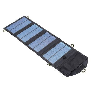 7W Solar Charger For Mobile Phone Folding Mono Solar Panel Compact Portable Solar USB Battery Charger For Outdoor Travel
