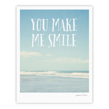 "Susannah Tucker ""You Make Me Smile"" Beach Sky Fine Art Gallery Print"