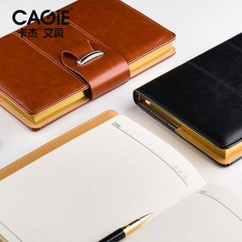CAGIE Vintage Pu Leather Personal Diary Notebook Office Planner Agenda Filofax  Business Daily Memos Sketchbook Notepad