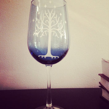 The White Tree of Gondor wine glass