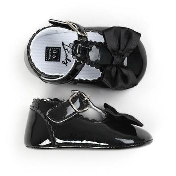 Baby Girl Bow Patent Leather Dress Shoes