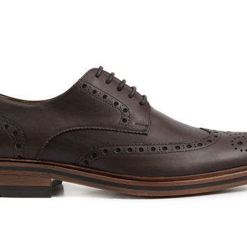 Carson Wingtips - Brown Leather