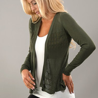 It's all in the Details Cardigan - Olive