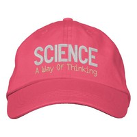 Science isn't a liberal conspiracy embroidered baseball cap
