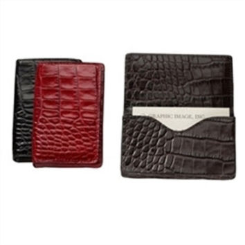 Croc Embossed Gift Card/Business Card Holder