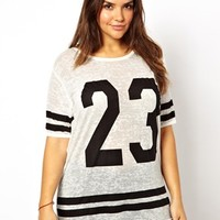 New Look Inspire | New Look Inspire Baseball Number T-Shirt at ASOS