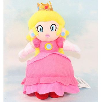 Super Mario party nes switch 1PCS   20cm  Bros PRINCESS PEACH Plush Doll  princess plush toy AT_80_8