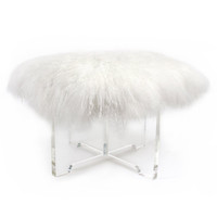 Jonathan Adler Mongolian Lamb Bench in All Furniture