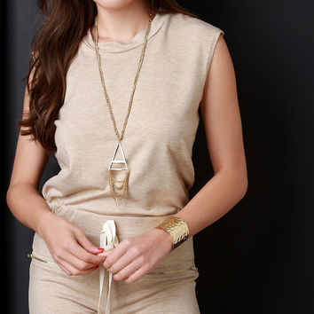 French Terry Round Neck Zipper Pocketed Romper