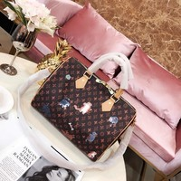 LV  Women Leather Shoulder Bag Satchel Tote Handbag