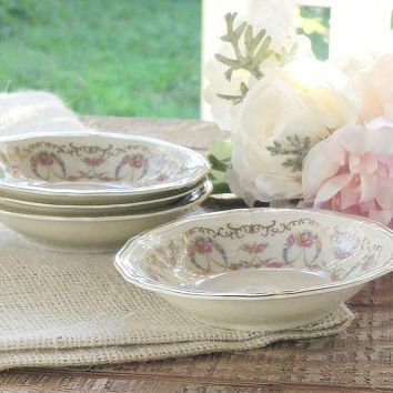 On Sale Rosenthal Majesty Dessert Bowls Set of 4, Romantic Cottage Style, Fine Bavarian China Bowls Weddings, Berry Bowls, Sauce Bowls