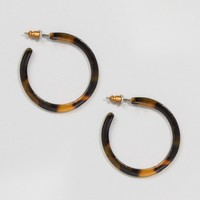 ASOS Tortoise Hoop Earrings